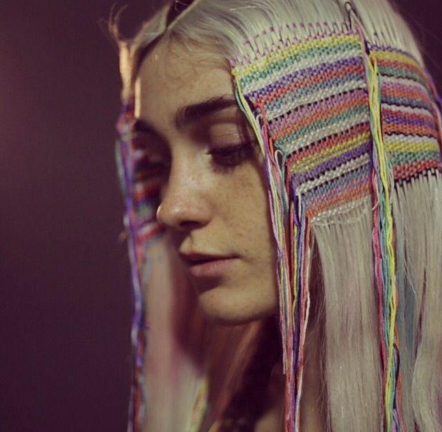 вышивка на волосах : juliaowen