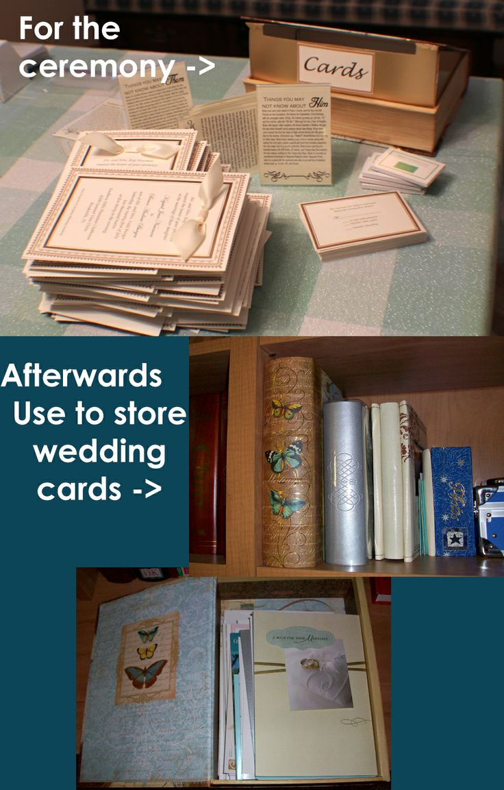 2012: Wedding Card Box. Went to Michaels and bought a magnetized book ...