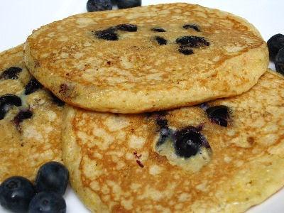 Mollie Katzen's Blueberry & Cornmeal Buttermilk Pancakes | Recipe