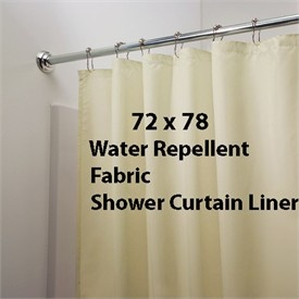 White 78 Long Water Repellent Fabric Shower Curtain Liner By Carnati