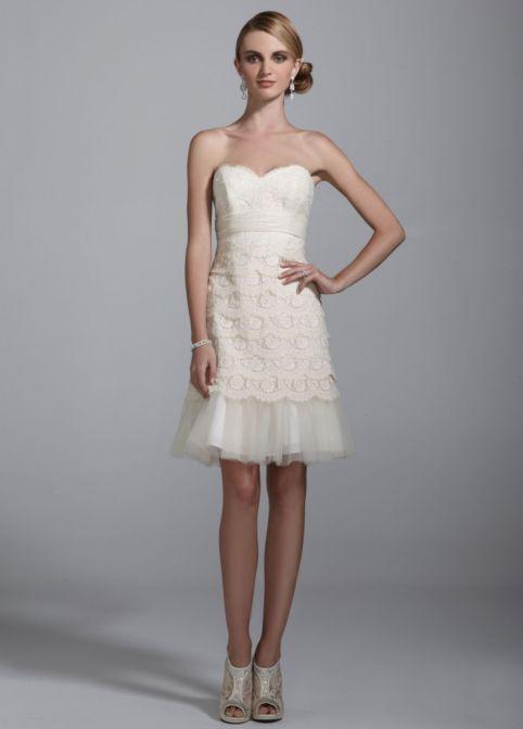 david's bridal short evening dresses