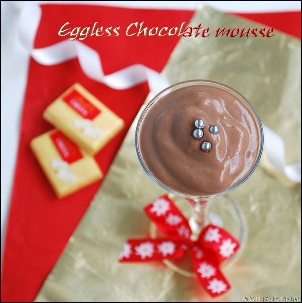 EGGLESS CHOCOLATE MOUSSE RECIPE ( WITHOUT GELATIN)