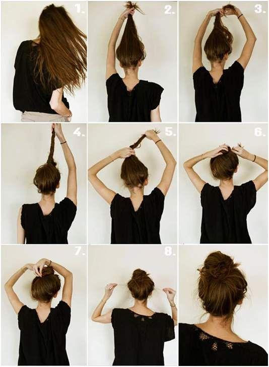 Как сделать пучки из волос поэтапно 944