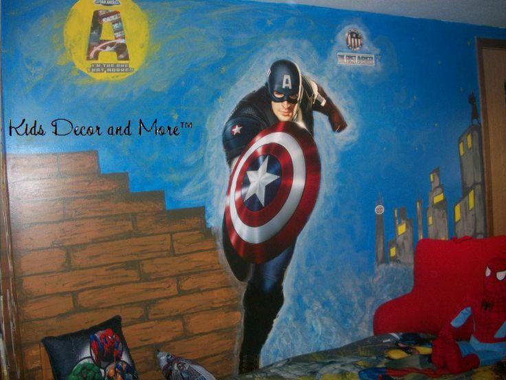 Pin by jennifer kline on jackson pinterest for Captain america bedroom ideas