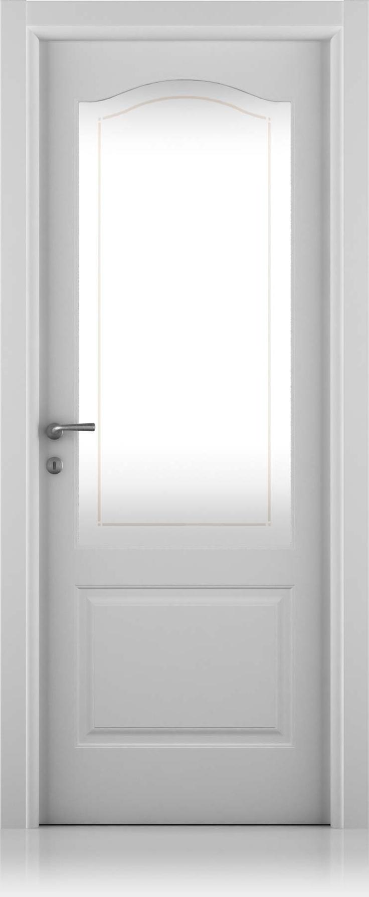 porta vetrata  finitura laccata bianca  modelo Kevia 4  Ferrero Legno