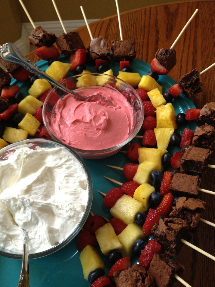 DCD Truffle Fudge Brownie Kabobs with White Chocolate Raspberry ...