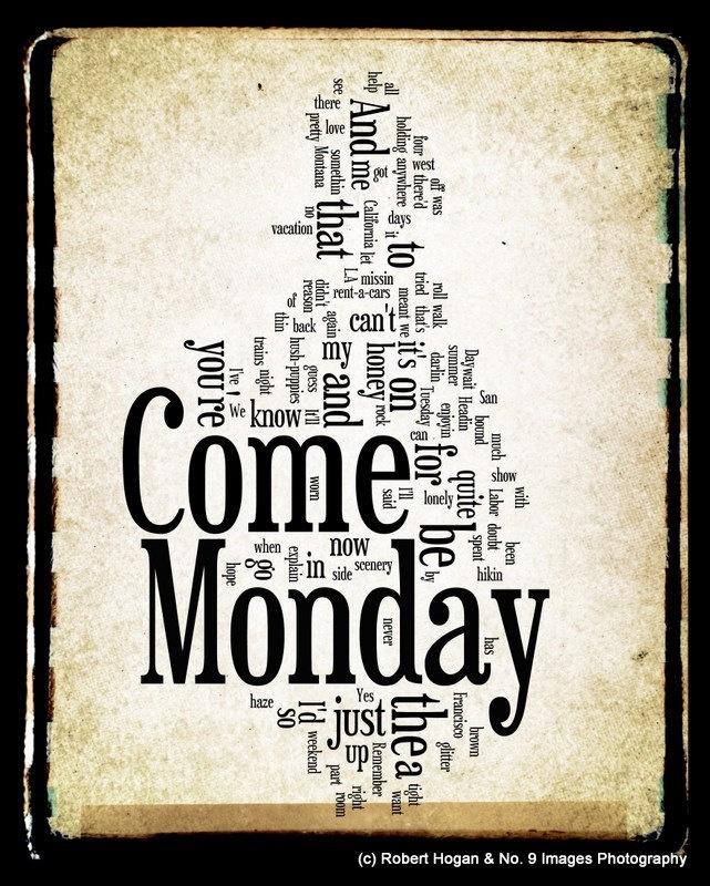 Come Monday Lyrics - Jimmy Buffett Word Art - Word Cloud Art 11x14 Print - Gift Idea. $25.00, via Etsy.