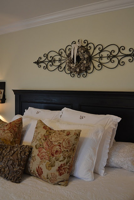 Headboard The Art Above For The Home Pinterest