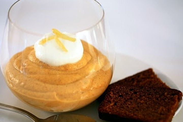 Pumpkin Mousse with Gingerbread Crumbs | desserts | Pinterest
