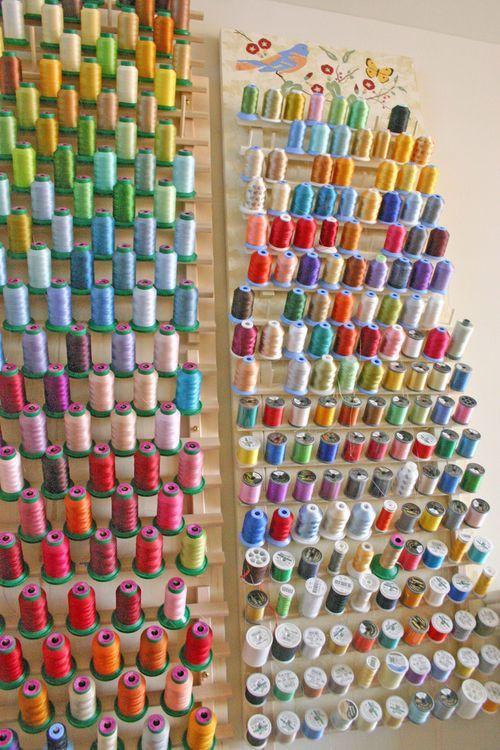 Thread storage quilt room pinterest