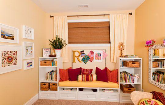 Kids' Room - bench/bookcases around a window