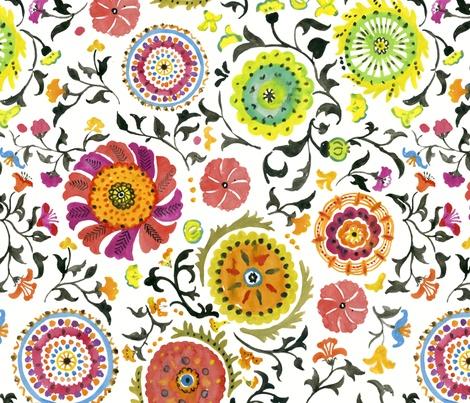 Bukhara fabric by chulabird on Spoonflower - custom fabric © Chulabird