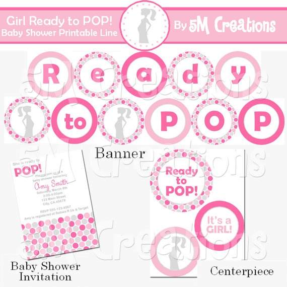 to pop baby shower decorations ready to pop baby shower printables