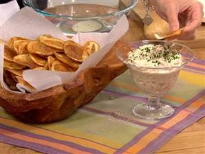 Caramelized onion dip with thick-cut potato chips | Recipe