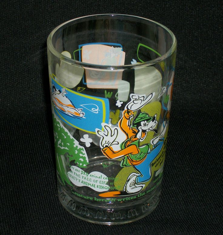 McDONALD'S Drinking Glass- Disney's 100 Years of Magic. Features Lion King, Goofy, Bug's Life, Pocahontas, Mickey, Jungle Book, and Hound and the Fox. $14.95 obo (Free S&H)