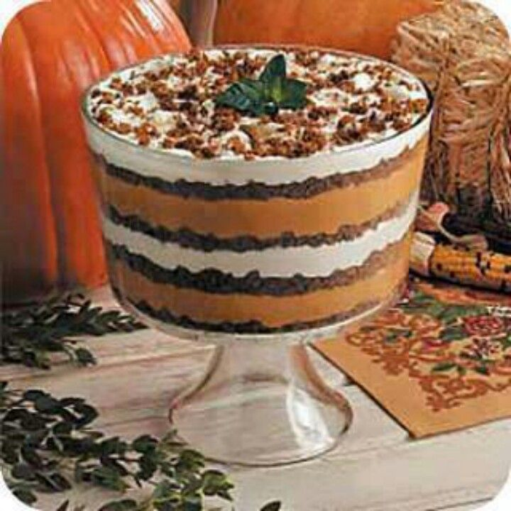 Pumpkin trifle   Favorite Recipes   Pinterest