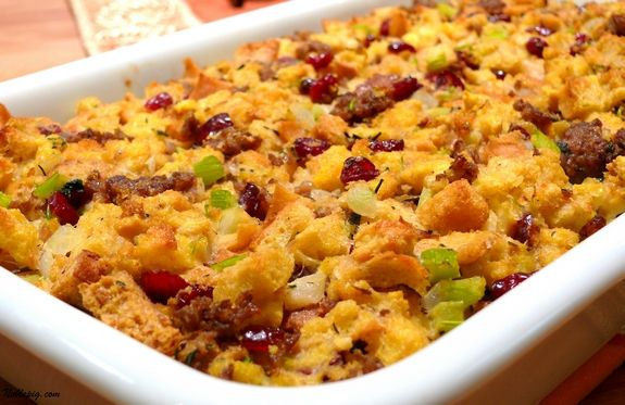 Bread and Sausage Stuffing with Cranberries | Noble Pig
