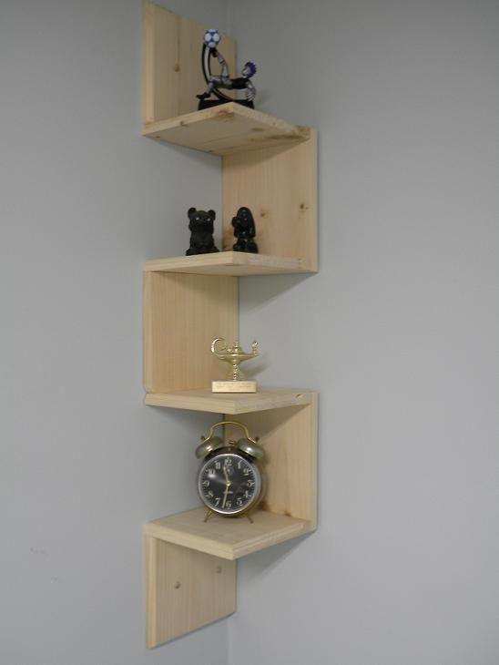 Diy corner shelf on the to do list pinterest for Diy shelves pinterest
