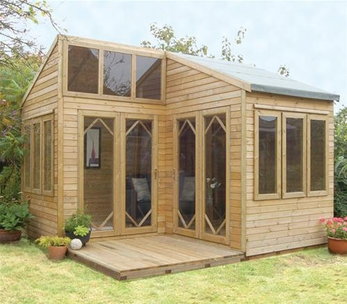 Tiny House Backyard Office : TIny house with lots of windows  Garden office room  Pinterest
