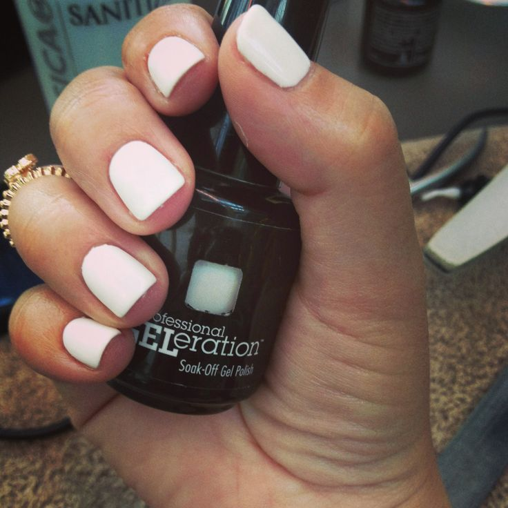 Jessica GELeration white nails