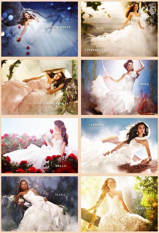 Disney inspired wedding dresses princess collection for Wedding dress disney collection
