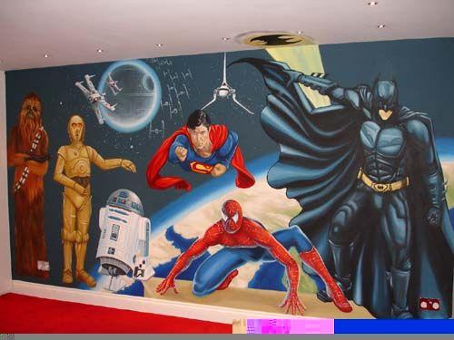 superhero wall mural super hero pinterest superhero wall mural www galleryhip com the hippest pics