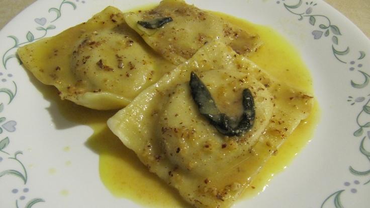 Butternut Squash Ravioli with Sage and Hazelnut Brown Butter Sauce
