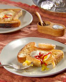 ... hole and cooked into the bread. This version adds a sweet red pepper