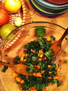 Kale, butternut squash and nuts salad | Maths | Pinterest
