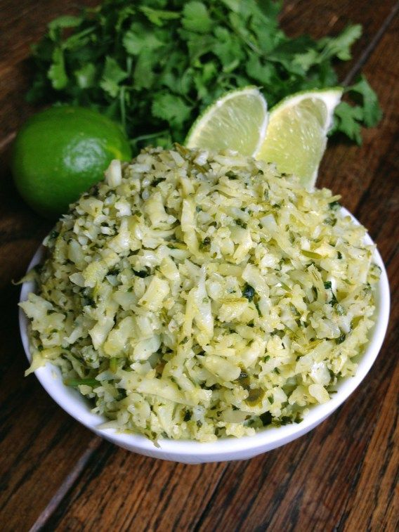 Cilantro scallion lime cauliflower rice - omg, looks SO good!! love me ...