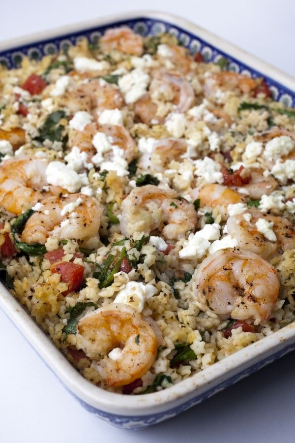 Greek Shrimp With Spinach, Feta and Stelline | Recipe