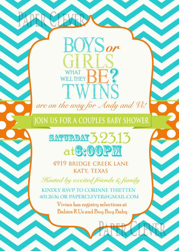Twin Baby Shower Invitations as luxury invitation ideas