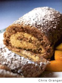 Pecan Roll Cake with Praline Mousse | Recipe