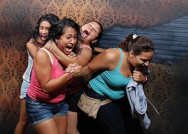 terrified women