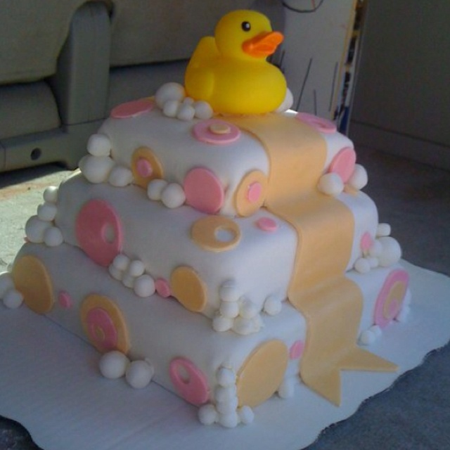 rubber ducky baby shower cake baby showers pinterest