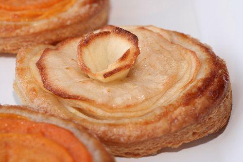 Puff Pastry Apple Tarts Glazed With Honey Recipe — Dishmaps