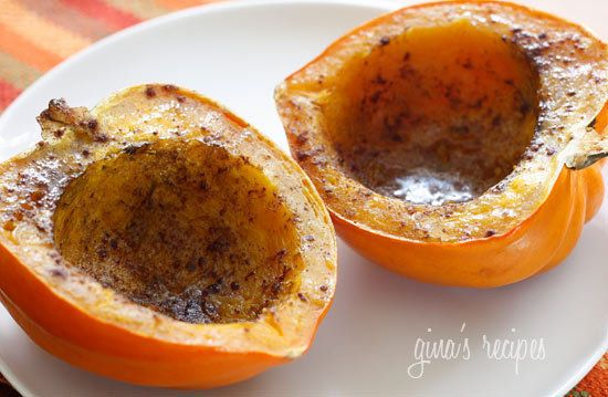 Roasted Acorn Squash with Brown Sugar | Recipes | Pinterest