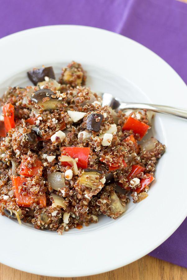 Roasted Vegetable Quinoa Salad with Balsamic Vinaigrette | Kristine's ...