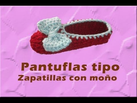 Crocheting In Spanish : In Spanish but easy to follow along. Crochet Slippers and Booties ...