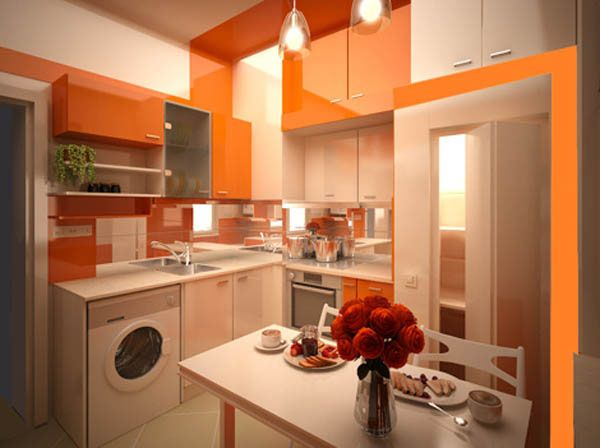 Orange wall and ceiling painting