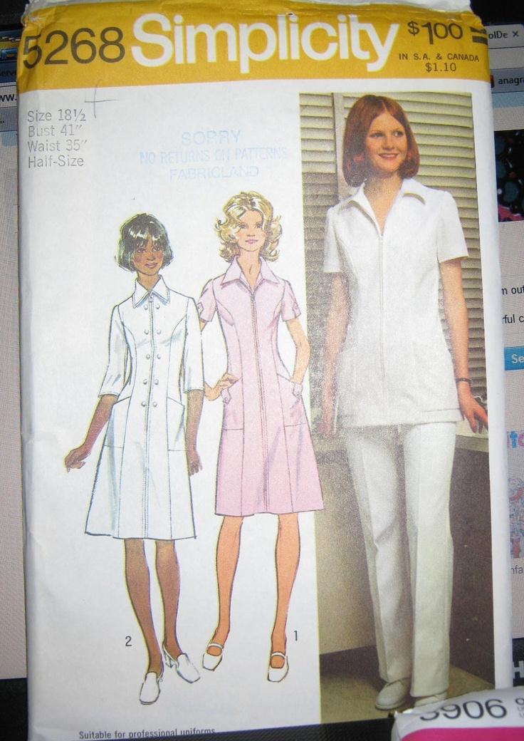 Nurse Uniform Sewing Pattern 59
