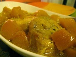 Slow Cooker Mango Pork - 1.5 lbs pork tenderloin, brown sugar, soy sauce, apple juice, 16oz frozen mango