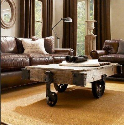 restoration hardware leather living room restoration