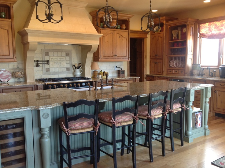 French country kitchen kitchens pinterest for French country green kitchen