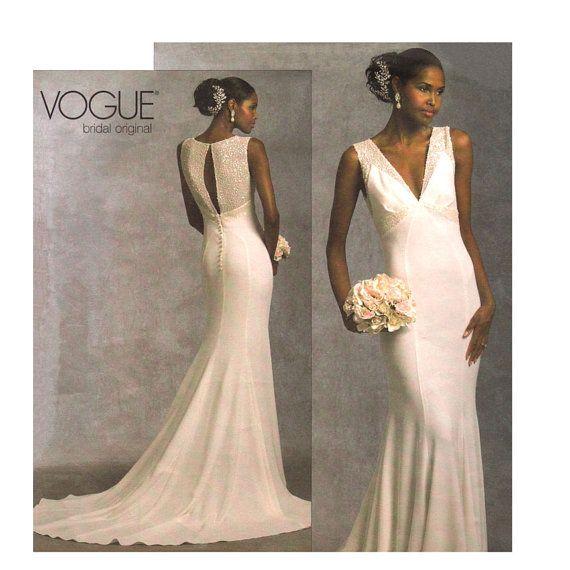 Wedding Dress Plus Size Patterns : Womens plus size wedding gown pattern vogue by finickypattern