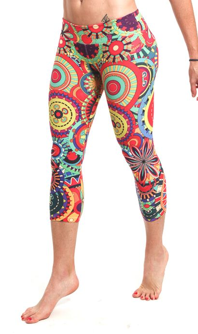 Lastest Ladies Gym Clothes. Running Pants. 3/4 Exercise Tights ...