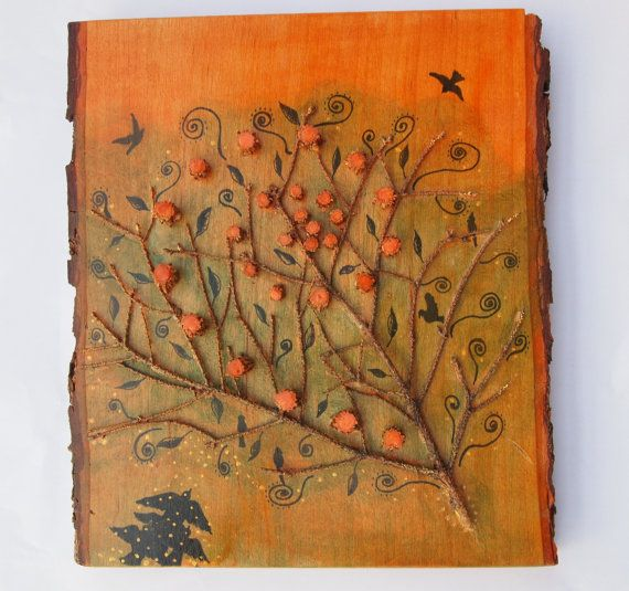 Natural materials assemblage painting for Painting with nature items