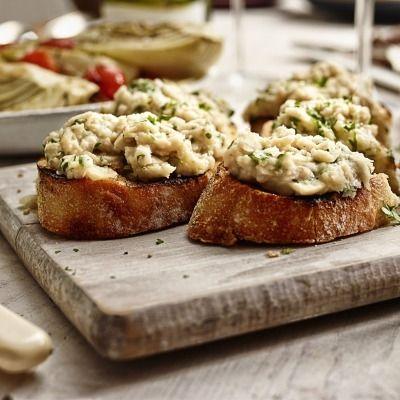 Recipe - White Bean Crostini | Good Eats | Pinterest