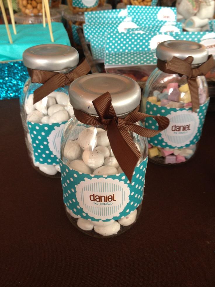 Como decorar un frasco de gerber para bautizo imagui for Como decorar c
