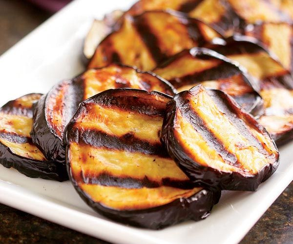 Grilled Eggplant Recipe-brush with oil and grill...when done..bruch ...